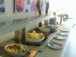 buffet in the restaurant of lichnos beach hotel