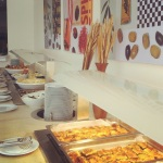 buffet in the restaurant, Parga, Greece