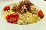 Squid risotto picture