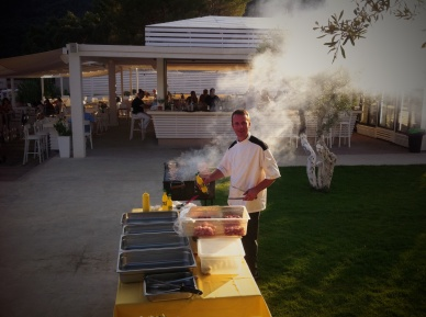 Grill evening in Lichnos Beach Hotel